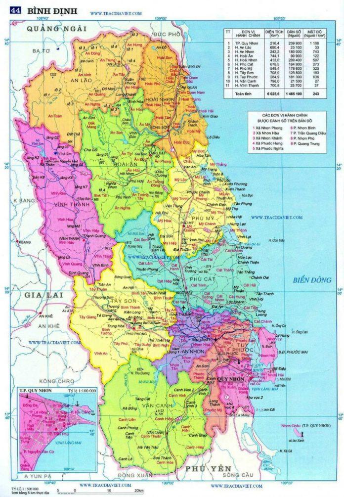 tỉnh Bình Định - Địa Lý Việt Nam - vansudia.net