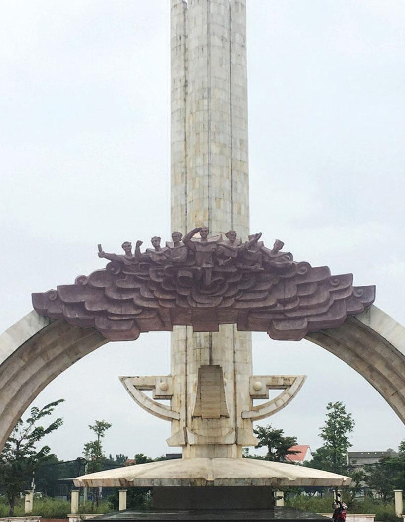 Tác phẩm Tượng đài Dũng sĩ Điện Ngọc / Monument of Dien Ngoc valiant warriors