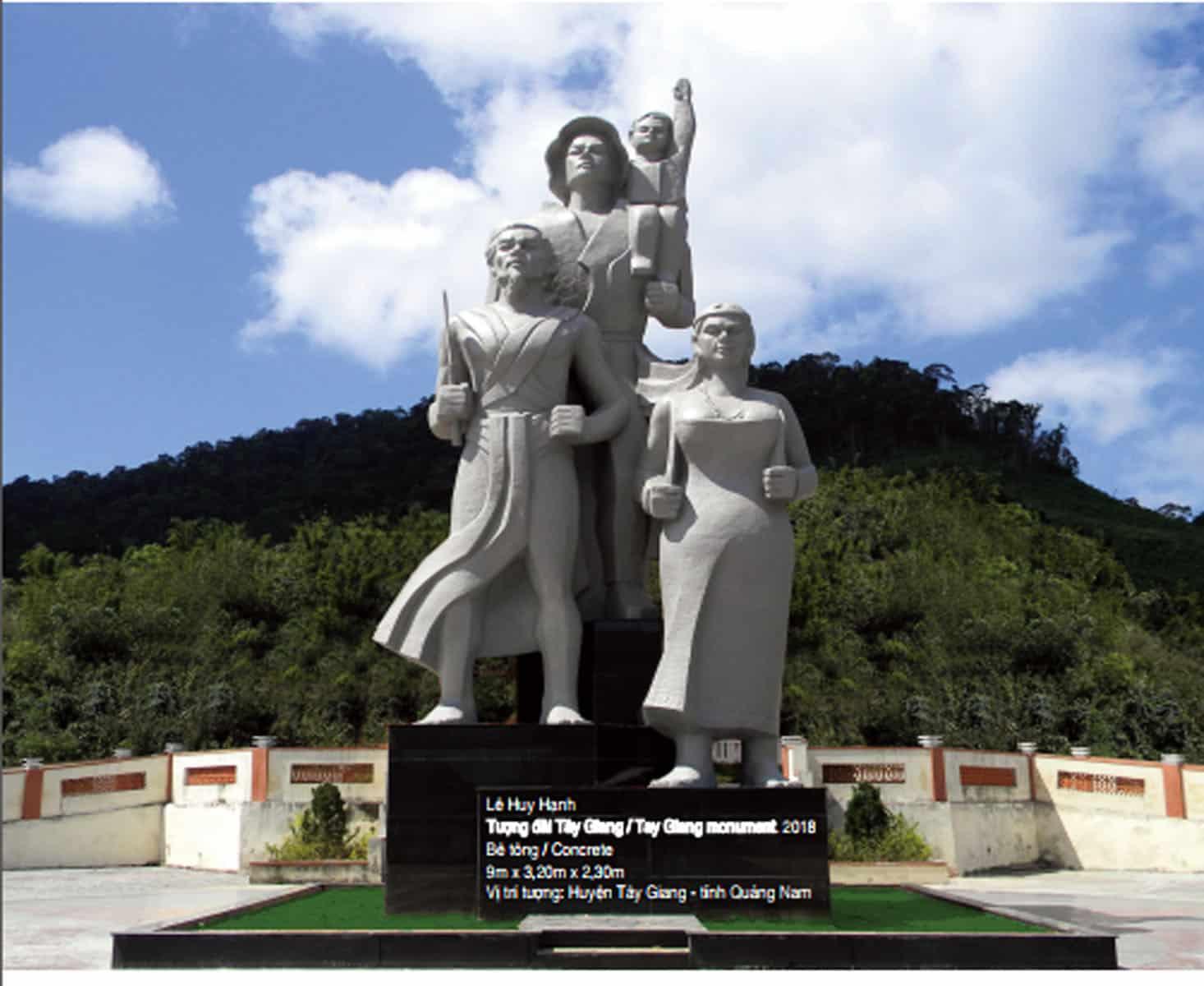 Tác phẩm Tượng đài Tây Giang / Tay Giang monument