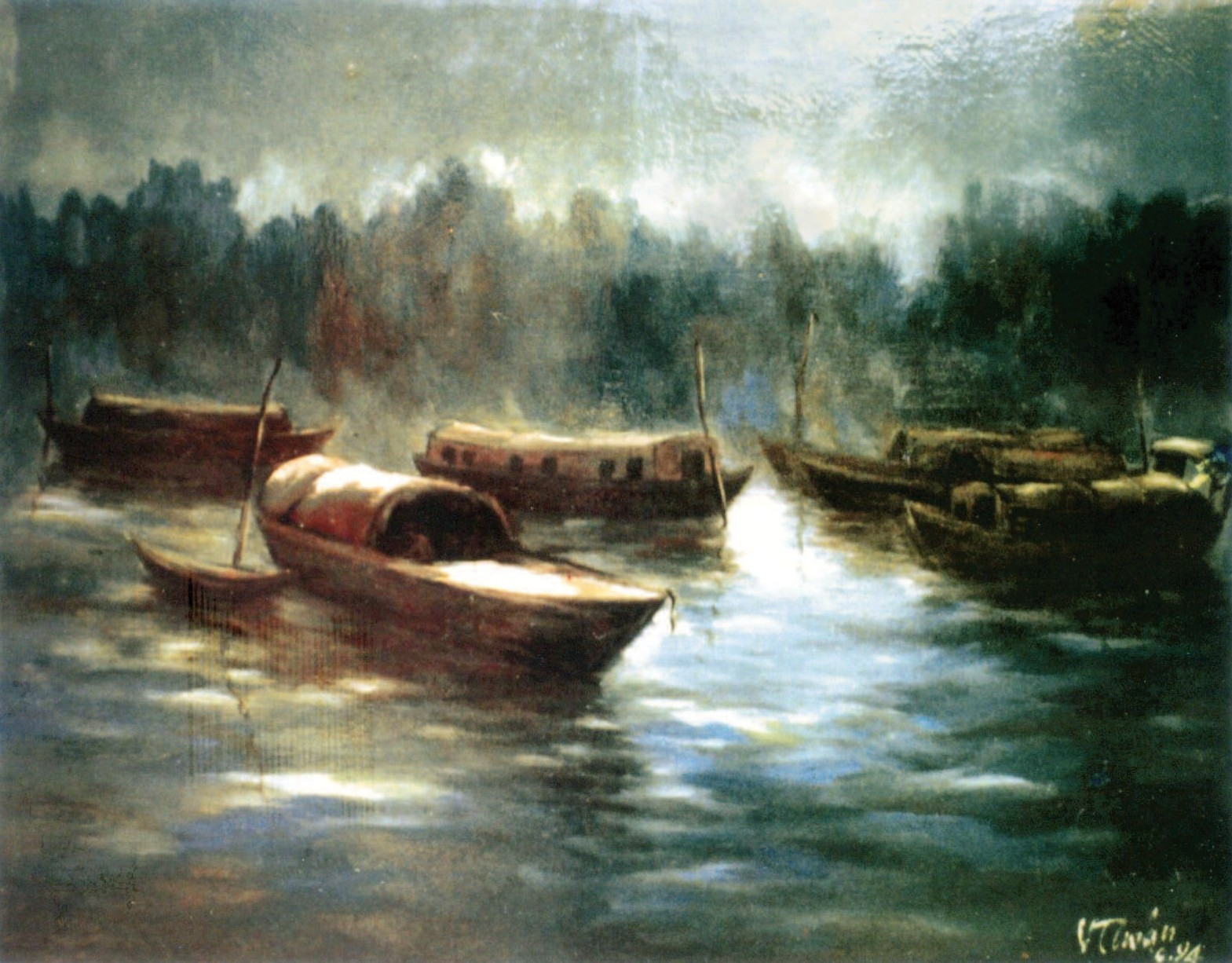 Tác phẩm Đêm trăng sông Thu Bồn