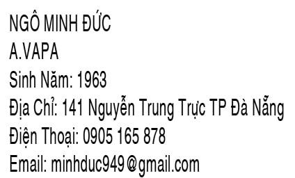 Thông tin nhiếp ảnh Ngô Minh Đức