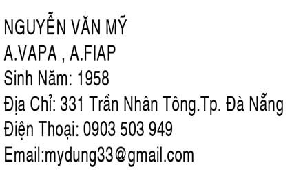 Nhà nhiếp ảnh Nguyễn Văn Mỹ