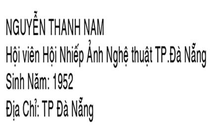 Nhà nhiếp ảnh Nguyễn Thành Nam