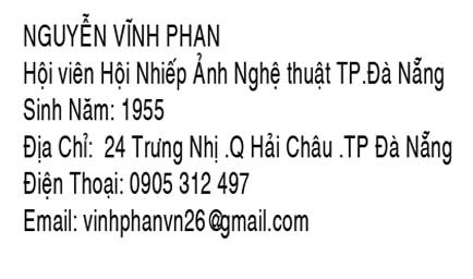 Thông tin Nhà nhiếp ảnh Nguyễn Vĩnh Phan