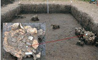 Dấu vết lò đúc đồng văn hoá Đồng Đậu ở Vườn Chuối