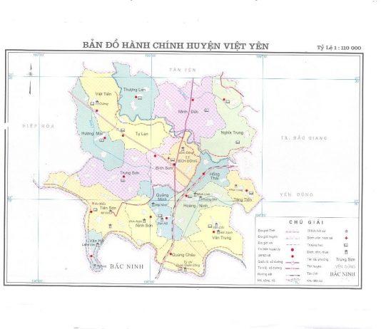 Giới thiệu khái quát huyện Việt Yên