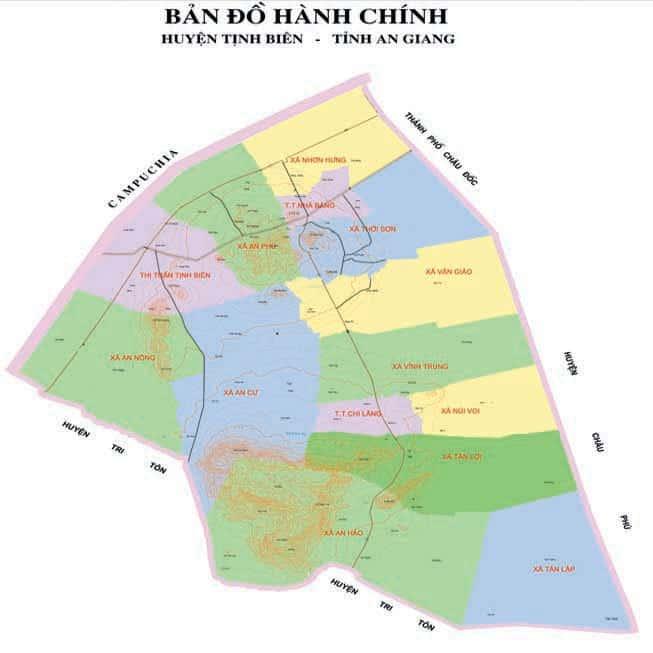 Giới thiệu khái quát huyện Tịnh Biên