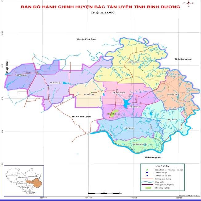 Giới thiệu khái quát huyện Bắc Tân Uyên
