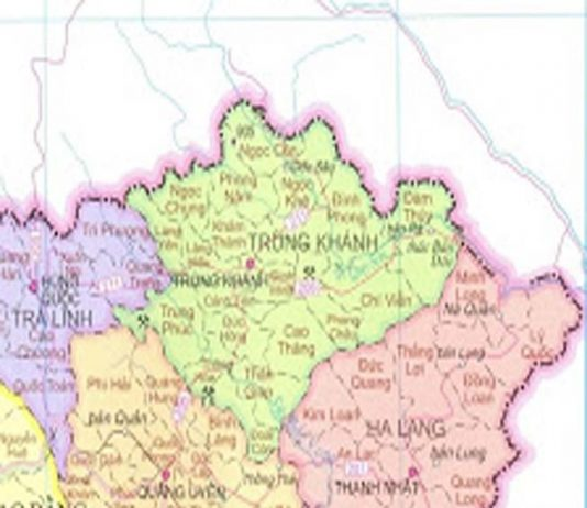 Giới thiệu khái quát huyện Trùng Khánh - Tỉnh Cao Bằng - vansudia.net