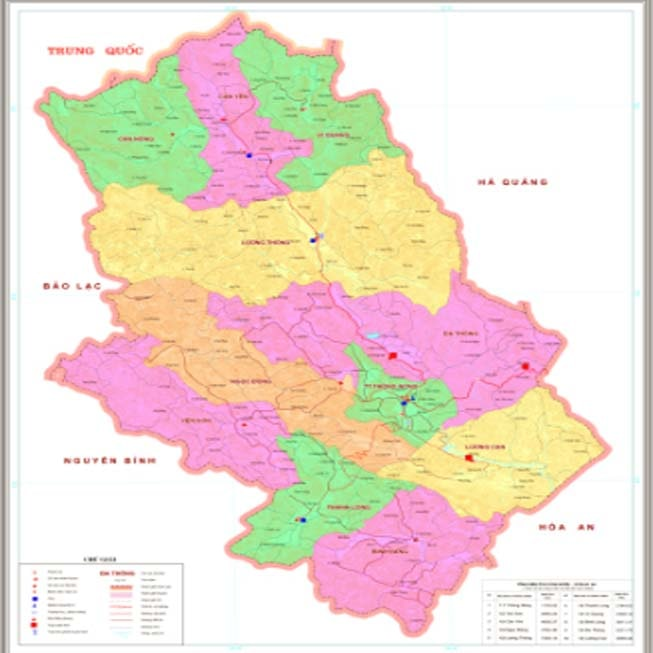 Giới thiệu khái quát huyện Thông Nông