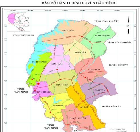Giới thiệu khái quát huyện Dầu Tiếng