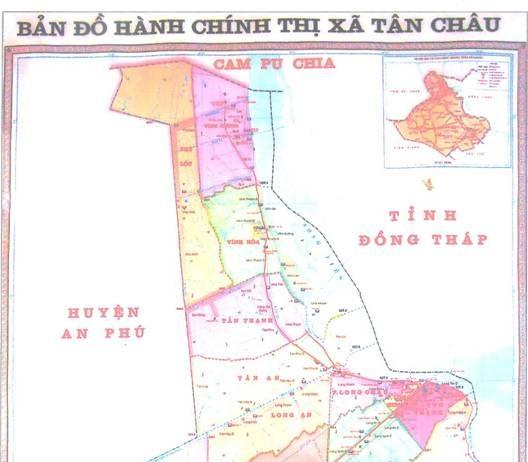 Giới thiệu khái quát thị xã Tân Châu
