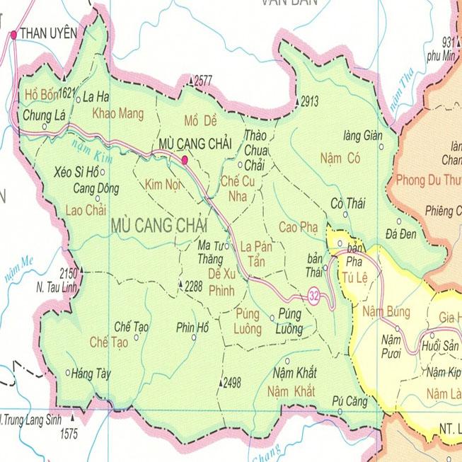 huyện Mù Cang Chải - Tỉnh Yên Bái