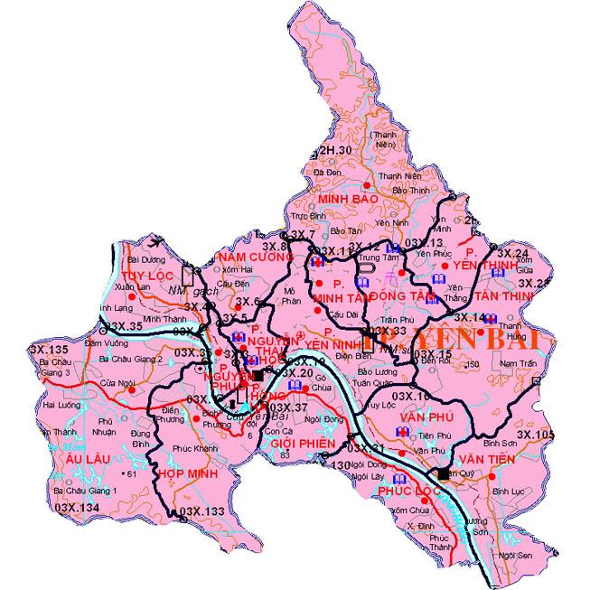 thành phố Yên Bái - Tỉnh Yên Bái