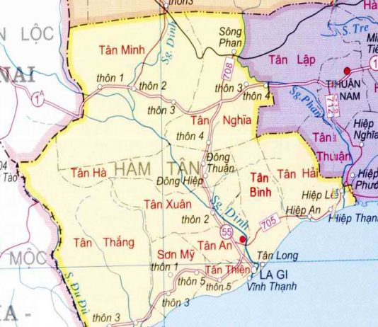 huyện Hàm Tân - Tỉnh Bình Thuận