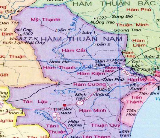 huyện Hàm Thuận Nam - Tỉnh Bình Thuận