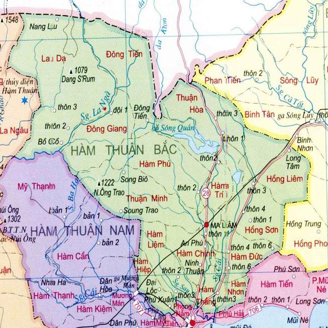 huyện Hàm Thuận Bắc - Tỉnh Bình Thuận