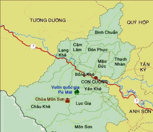 Giới thiệu khái quát huyện Con Cuông