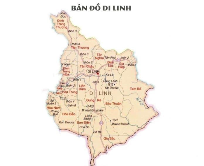 Giới thiệu khái quát huyện Di Linh