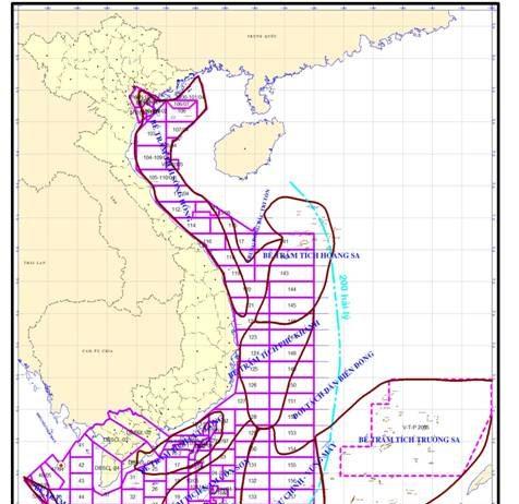 bể trầm tích dầu khí ở Việt Nam