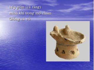 Bếp gốm (cà ràng) minh khí trong mộ chum ở di chỉ Giồng Cá Vồ