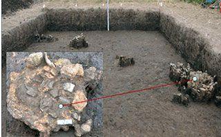 Dấu tích lò nấu đồng ở Vườn Chuối