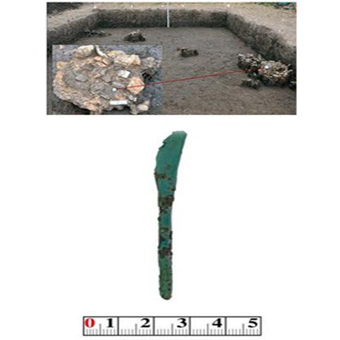 Dấu vết lò đúc đồng và dao đồng văn hoá Đồng Đậu ở Vườn Chuối