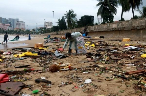 Hình ảnh Nha Trang sau cơn bão
