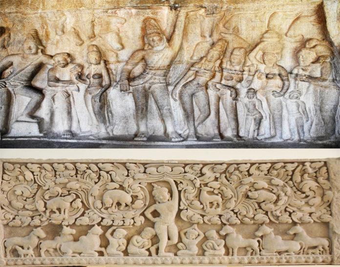 Phù điêu Krishna-Govardhana Khương Mỹ