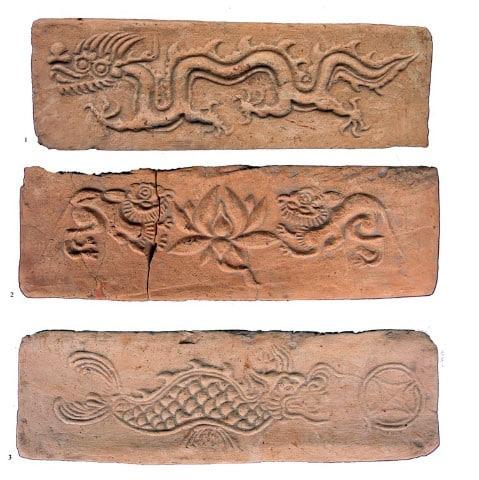 Các loại hoa văn trang trí trên gạch thời Mạc, ảnh: Ngô Thị Lan