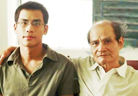 Nhà văn Thanh Quế và con trai: Họa sĩ Phan Tuy An