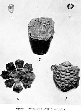 Ảnh 2 Các hiện vật trong hố thiêng tháp Bắc, Đại Hữu (Arousseau 1926: Pl XIV, XVII)