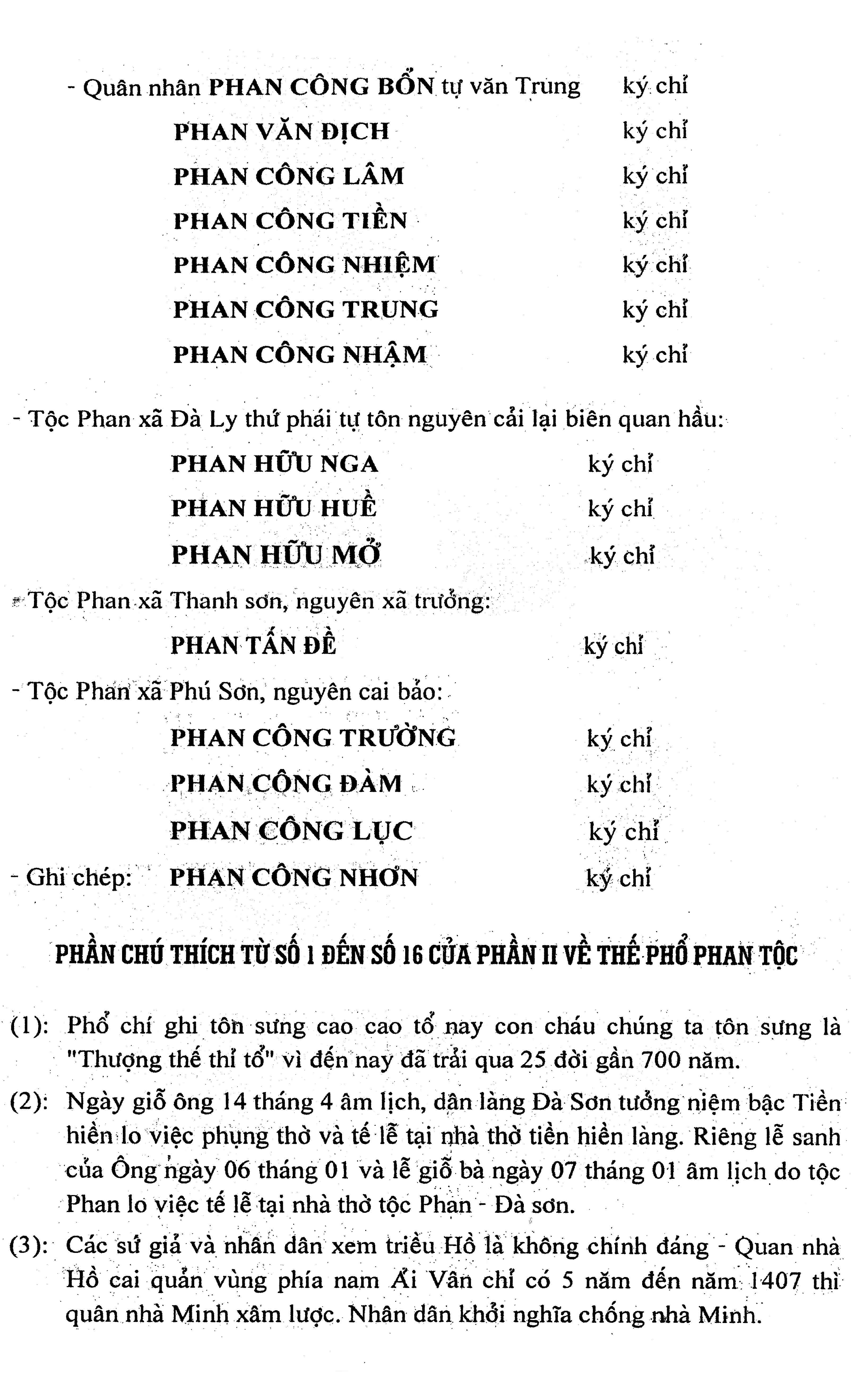 20 - Miền tháp cổ - Tác giả Vũ Hùng - Kỳ 10 - Phan tộc phổ chí Đà Sơn - Đà Ly nhị xã