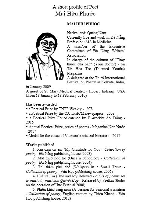Tiểu sử Nhà thơ Mai Hữu Phước