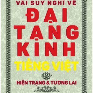 Vài Suy Nghĩ Về Đại Tạng Kinh Tiếng Việt