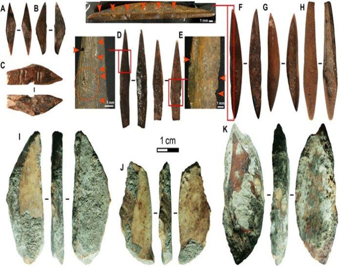 Đầu mũi tên 48.000 năm tuổi bằng xương động vật