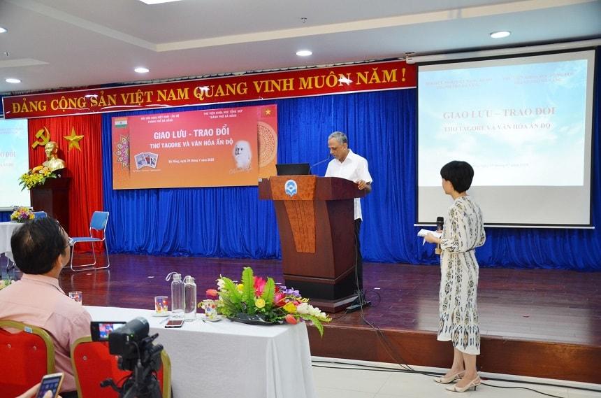 Tiến sĩ G.B. Harisha - Giám đốc Trung tâm Văn hóa Swami Vivekananda tại Việt Nam.