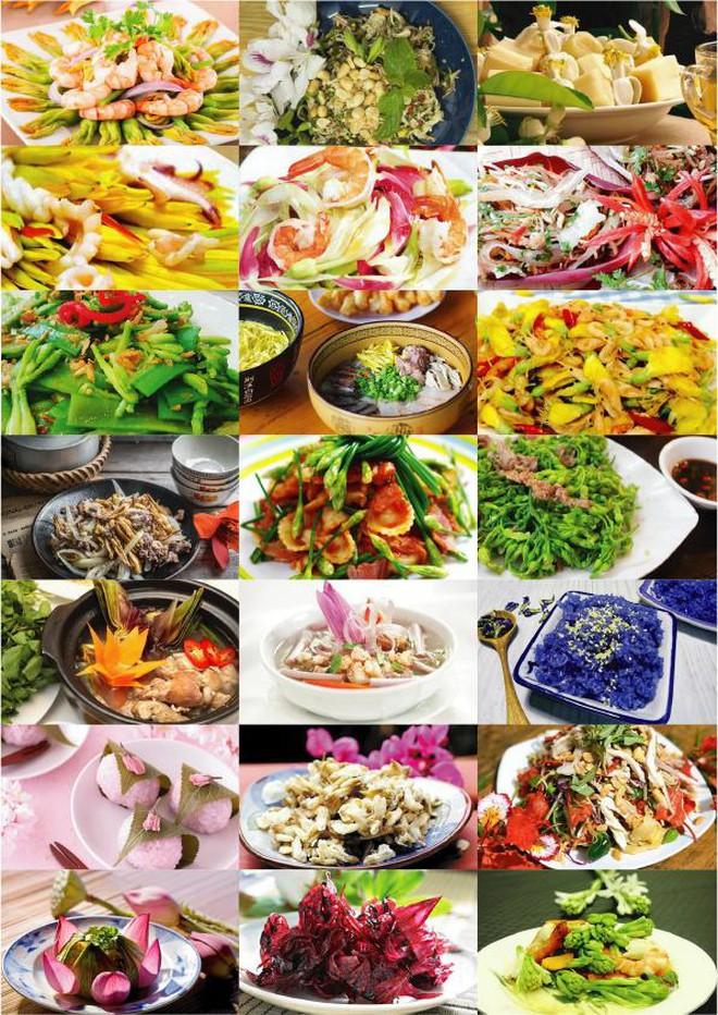 Hoa trong ẩm thực Việt được sử dụng với nhiều cách thức chế biến, từ dân dã đến cầu kỳ, sang trọng