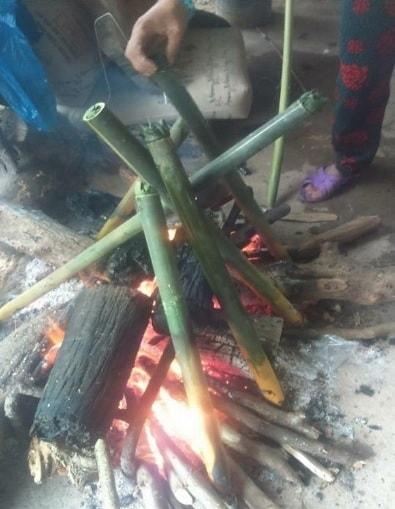 Nướng cơm lam
