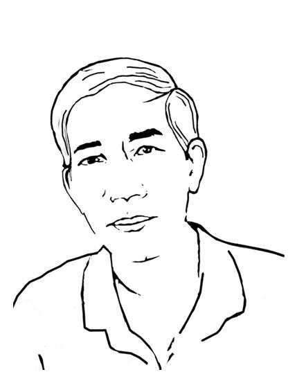 Ảnh vẽ - Nhà thơ Trần Văn Thọ