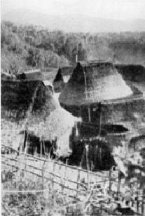 Góc ngôi làng xã A Ting năm 1938 (Ảnh: Champrosay, trong Les de Chasseurs de sang)
