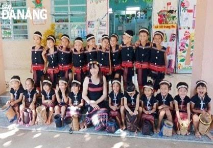 Học sinh Cơ Tu tại trường Tiểuhọc xã Hòa Bắc, huyện Hòa Vang(Ảnh: St)
