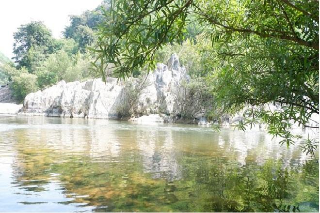 Vũng Bọt, nơi sông Nam, sông Bắc, sông Cu Đê gặp nhau (Ảnh: VVH)