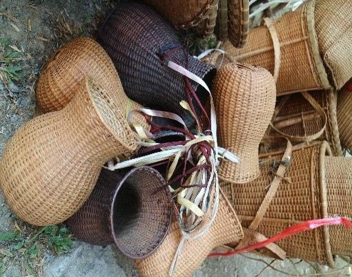 Dụng cụ đánh bắt cá (Ảnh: VVH, 4/2019, tại thôn Pho, xã Sông Kôn, huyện Đông Giang.