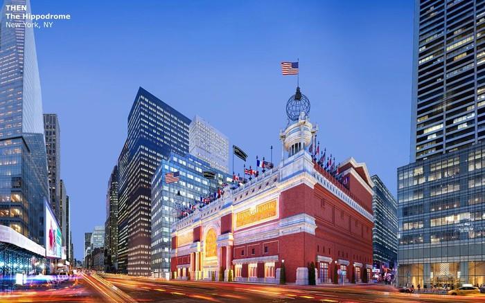 Nhà hát Hippodrome, New York, Mỹ:Hippodrome là nhà hát khổng lồ nằm trên đại lộ New York từ 100 năm trước, với sức chứa 5.697 chỗ ngồi. Nhà hát thời điểm đó thu hút tầng lớp trung lưu và người nghèo, do có giá vé thấp. Chính vì thế chủ sở hữu không đủ chi phí bảo trì và buộc phải đóng cửa năm 1939. Đến năm 1960, nhà hát bị phá bỏ để xây dựng tòa nhà văn phòng vẫn tồn tại đến ngày nay.14-min