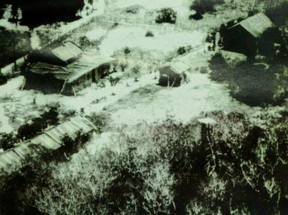 Khu nhà đồn trú của lính địa phương quân Việt Nam Cộng hòa trên đảo Hoàng Sa năm 1959 - Ảnh tư liệu trong sách Kỷ yếu Hoàng Sa