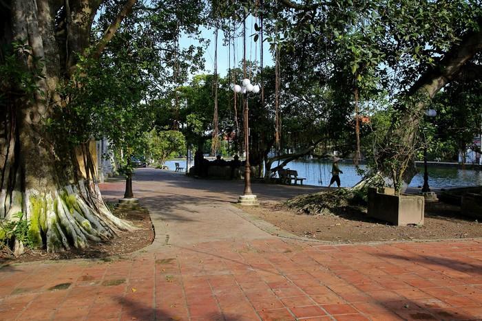 Qua cánh cổng làng rêu phong, khung cảnh bên trong mang đặc trưng của làng quê cổ Việt Nam. Các khu nhà nhỏ nhắn đều nhuốm màu thời gian, nếp sinh hoạt thường nhật của người dân diễn ra bình lặng, yên ả trong nhịp sống chậm rãi.