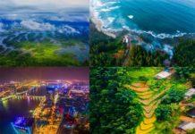 Phong cảnh Việt Nam nhìn từ trên cao