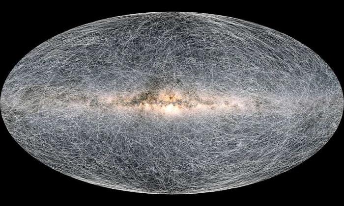 Đài quan sát Gaia của Cơ quan Vũ trụ châu Âu (ESA) công bố dữ liệu đợt thứ ba, trong đó có bản đồ chi tiết nhất về dải Ngân Hà, hé lộ vị trí của gần 1.812 ngôi sao với độ chính xác lớn nhất từ trước tới nay. Ảnh: ESA.