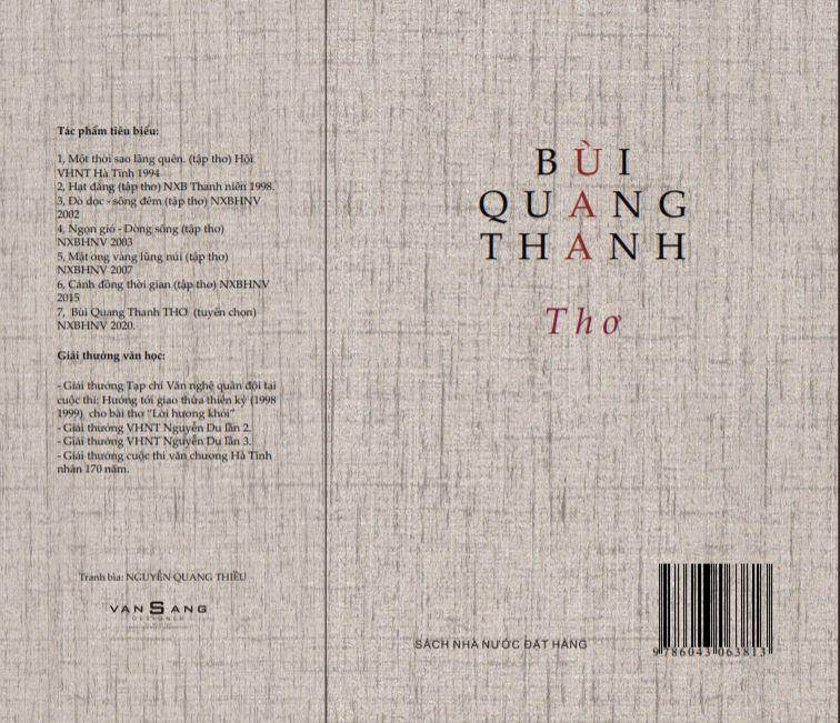 Tác phẩm văn học của Nhà thơ Bùi Quang Thanh